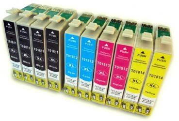 T1811-T1814 compatible inktpatronen 18XL set van 10 stuks