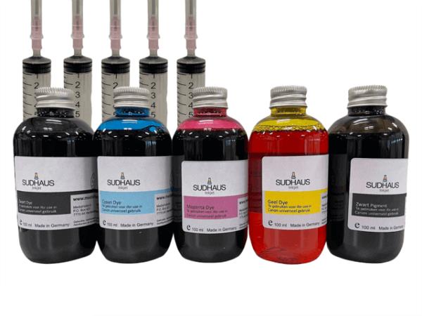 Pigment/Dye Refill Inkt universeel voor Canon Set 5 kleuren
