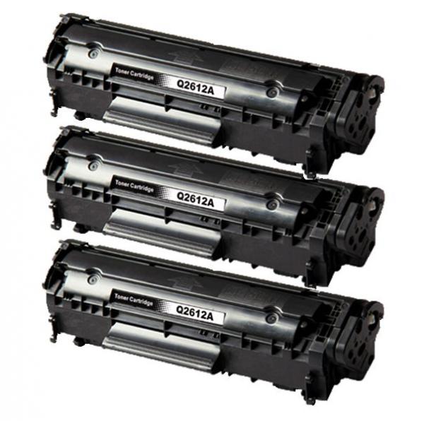 Toners Huismerk 12A zwart Q2612A Set van 3 stuks
