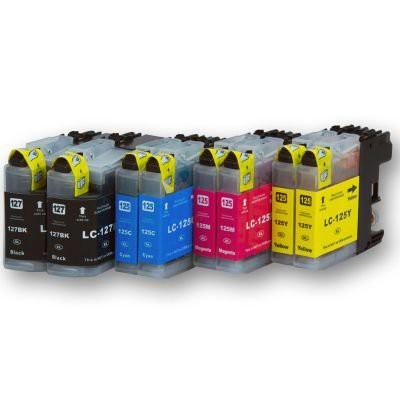 LC127/LC125 compatible inktpatronen Set 8 stuks