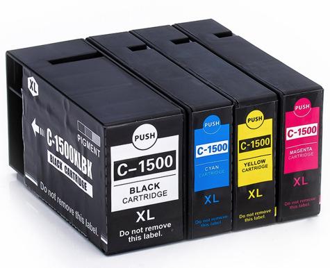 PGI-1500 Serie Huismerk inktpatronen Set van 4 stuks