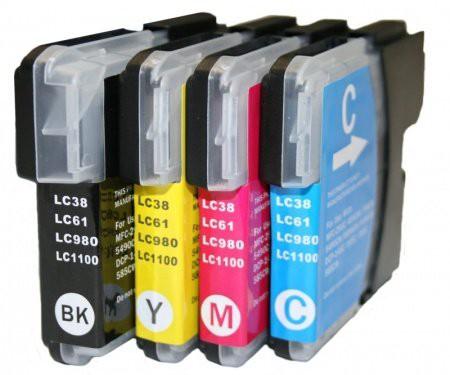 LC1100/LC980 compatible inktpatronen set van 4 stuks