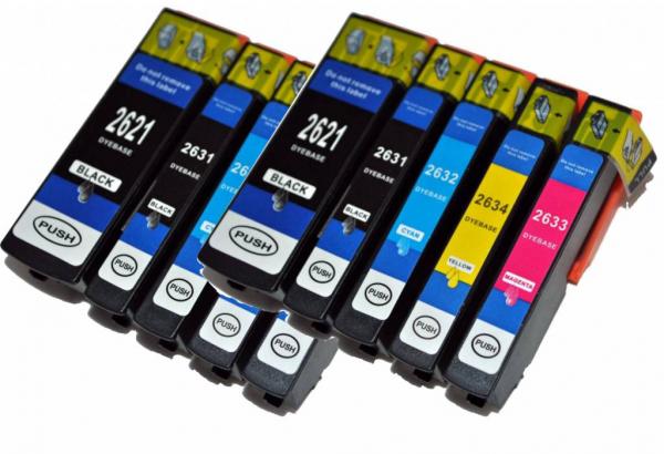 T2621-T2631-T2634 compatible inktpatronen 26XL set van 10 stuks
