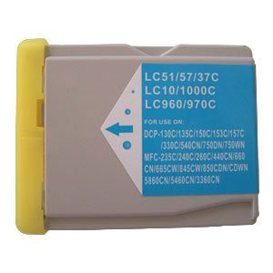 LC1000/LC970 compatible inktpatroon cyaan 28 ml XL