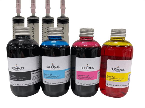 Dye Refill Inkt universeel voor HP Set 4 kleuren