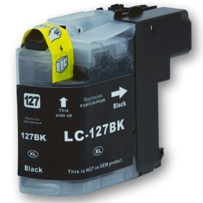 LC127 compatible inktpatroon zwart 28 ml