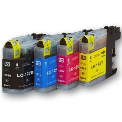 LC127/LC125 compatible inktpatronen Set 4 stuks