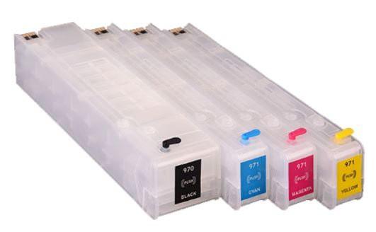 970XL-971XL hervulbare inktpatronen met ARC chip Set 4 stuks