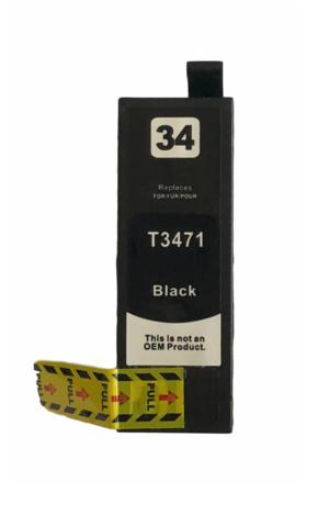 T3471 Huismerk inktpatroon 34XL Zwart