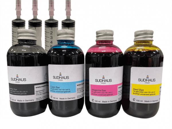 Dye Refill Inkt universeel voor Brother Set 4 kleuren