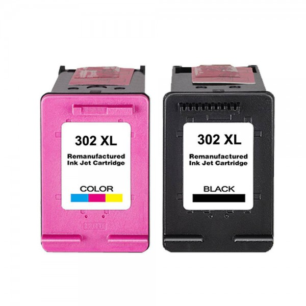 Huismerk inktpatronen nr. 302XL Set Kleur en Zwart