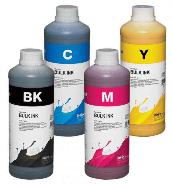 Epson Dye refill inkt Inktec 1 liter flacons, set van 4 kleuren