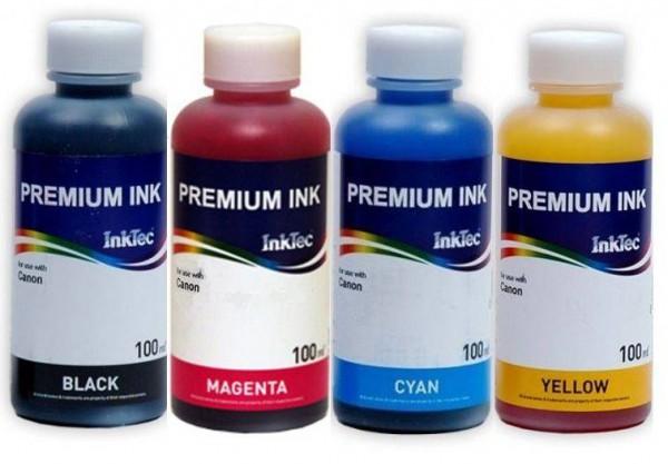 Epson Dye navul refill inkt 100 ml. Inktec flacon set van 4 kleuren