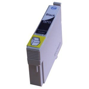 T0711 compatible inktpatroon zwart met chip 15 ml