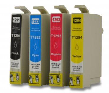 T1291-T1294 compatible inktpatronen set van 4 stuks