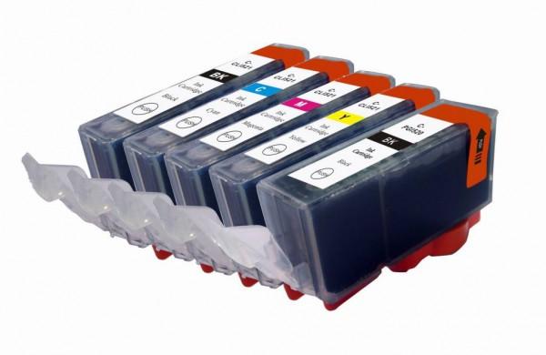 CLI-521/PGI-520 Set Compatible 5 stuks met chip