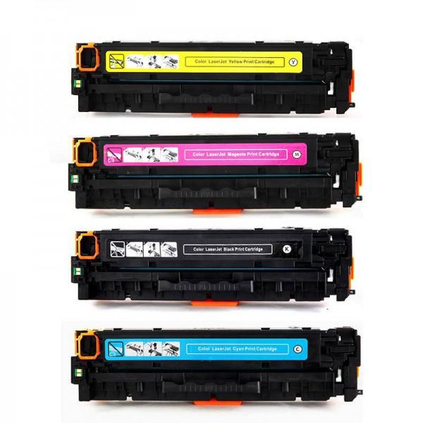 Toners Huismerk 130A Set 4 kleuren CF350A, CF351A, CF352A en CF353A