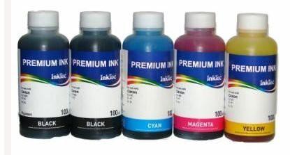 CLI-8, CLI-521, CLI-526 Dye/Pigment refill inkt 100 ml. voor Canon Set 6 kleuren