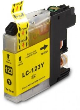 LC123 Huismerk inktpatroon geel 10 ml