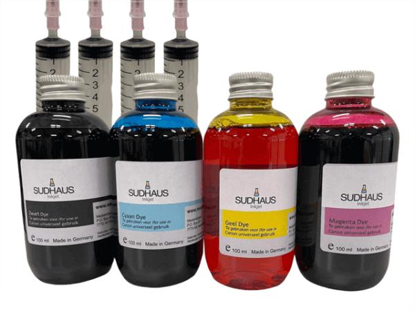 Dye Refill Inkt universeel voor Canon Set 4 kleuren