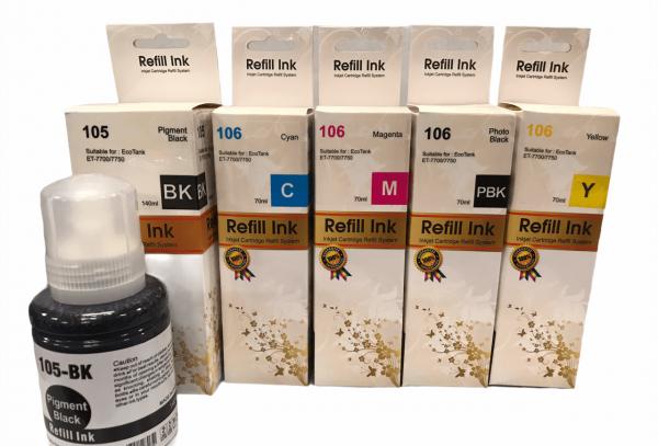 Epson 105 - Epson 106 Huismerk Refill kit voor EcoTank Printer