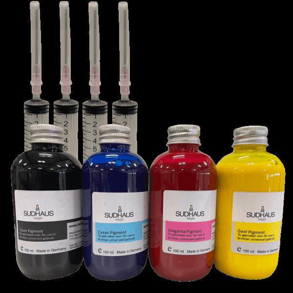 Pigment refill inkt Brother LC3217-LC3219-LC3237-LC3239 set van 4 kleuren