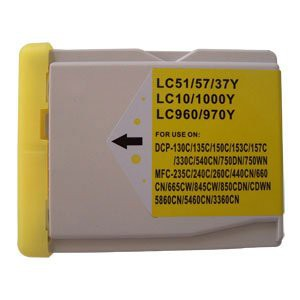 LC1000/LC970 compatible inktpatroon geel 28 ml XL