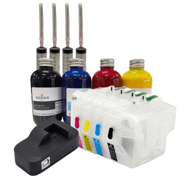 LC3217 -LC3219 Starterkit Hervulbaar met inkt en chipresetter