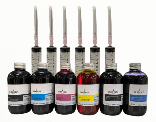 Pigment/Dye Refill Inkt voor Canon CLI-581/PGI-580 Set 6 kleuren