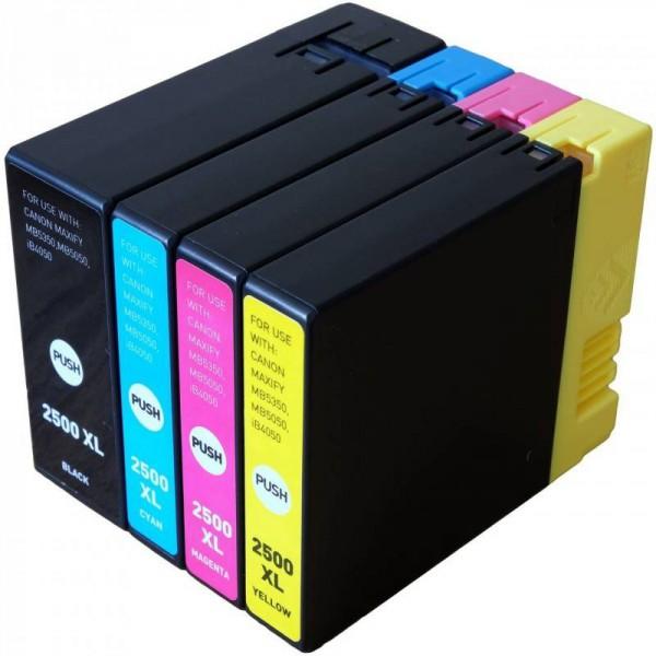 PGI-2500 Serie Huismerk inktpatronen Set van 4 stuks