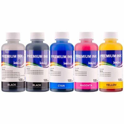 Dye/Pigment refill inkt Inktec 100 ml. flacon set van 5 kleuren
