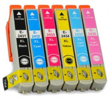 T2431-T2436 compatible inktpatronen 24XL set van 6 stuks
