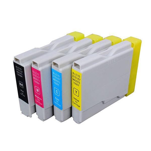 LC1000/LC970 compatible inktpatronen set van 4 stuks XL