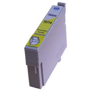 T0714 compatible inktpatroon geel met chip 15 ml