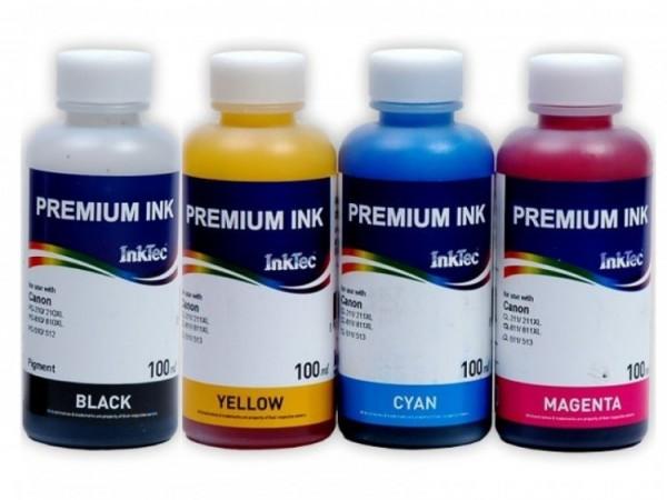 CL-511, PG-510 Dye/Pigment refill inkt 100 ml. Set 4 kleuren