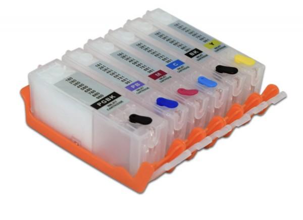 CLI-581/PGI-580 Hervulbare cartridges 6 stuks met OT chip