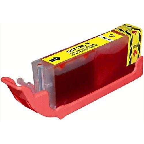 CLI-571Y Huismerk inktpatroon geel met chip 15 ml