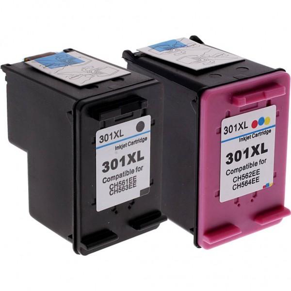 Huismerk inktpatronen nr. 301XL Set Kleur en Zwart