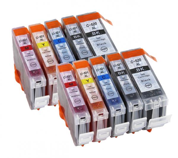 CLI-521/PGI-520 Voordeelpack 10 stuks