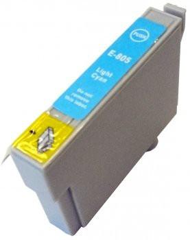 T0805 compatible inktpatroon licht cyaan met chip 15 ml