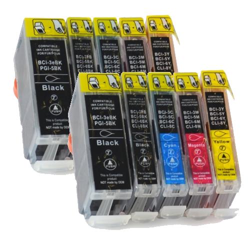 CLI-8/PGI-5 Voordeelpack 10 stuks met chip