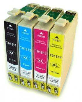 T1811-T1814 compatible inktpatronen 18XL set van 4 stuks