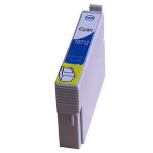 T0712 compatible inktpatroon cyaan met chip 15 ml