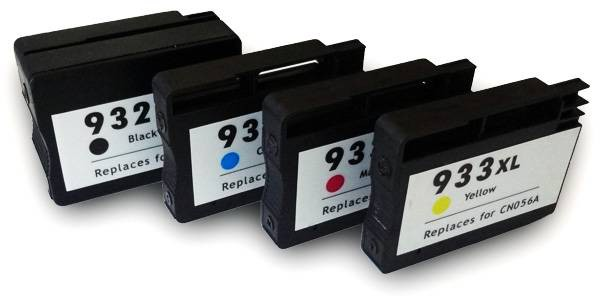 932XL / HP933XL compatible inktpatronen XL Set 4 stuks.