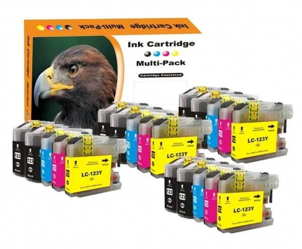 LC123 Huismerk inktpatronen Multipack 20 stuks